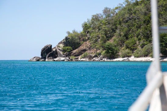 View of Pelorus Island from boat