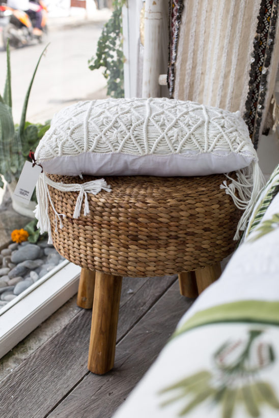 Woven Stool and cushion