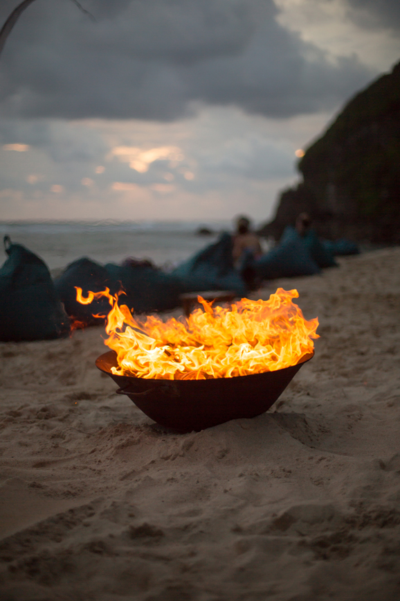 Fire pit at Sunset