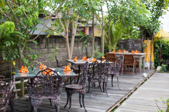 Outdoor tables at Dandelion cafe
