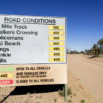 Road conditions warning sign
