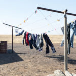 Clothes line in the outback