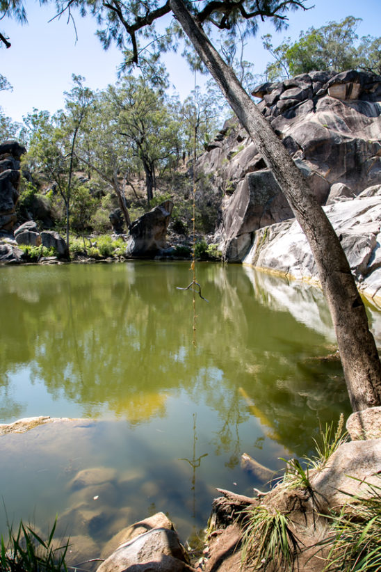 Swinging Rope at Coomba Falls Water Hole 2