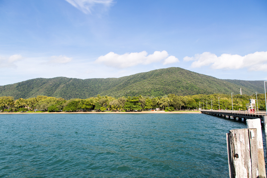 View back to Palm Cove from the jetty, Palm Cove, Australia