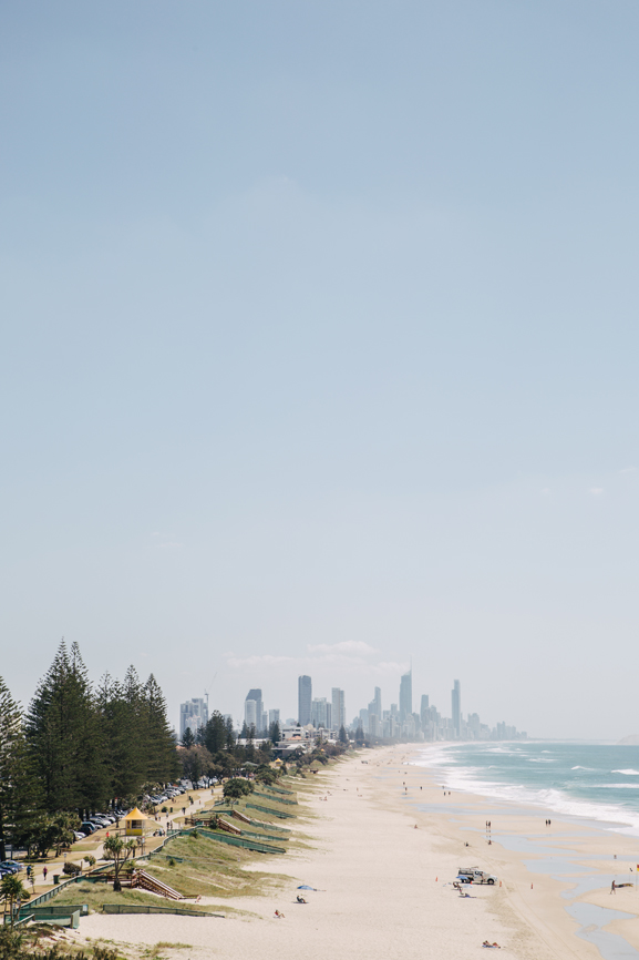 View from lookout over Miami Beach Gold Coast Queensland Australia