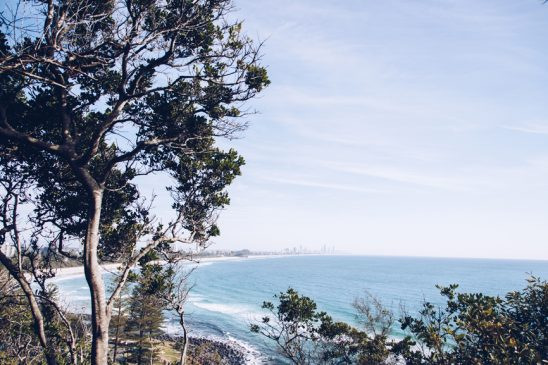 View from the walking track in Burleigh Head National Park Gold Coast Queensland Australia