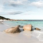 Beach at Bay of Fires Tasmania